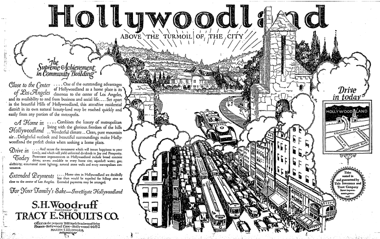 Advertisement via  Los Angeles Times  (1924)