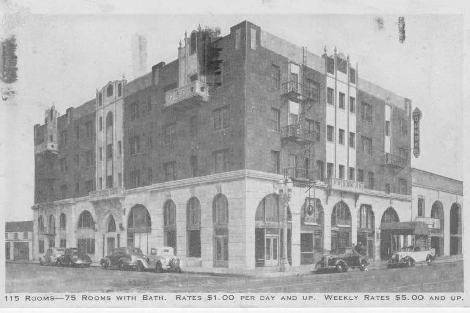 Postcard of the Dunbar (Somerville) Hotel. Photo via USC Digital Library (ca. 1938)