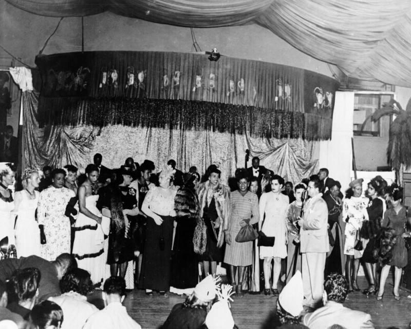 Drag contest at Club Alabam. Photo via Los Angeles Public Library (c. 1945)