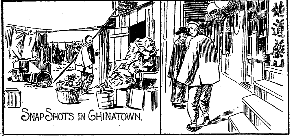 Images of Chinatown from the  Los Angeles Times  (1896).