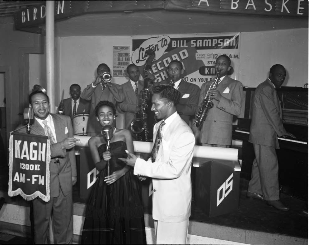 Performers at Jack's Basket Room. Photo by Charles Williams via California State University, Northridge (1949)