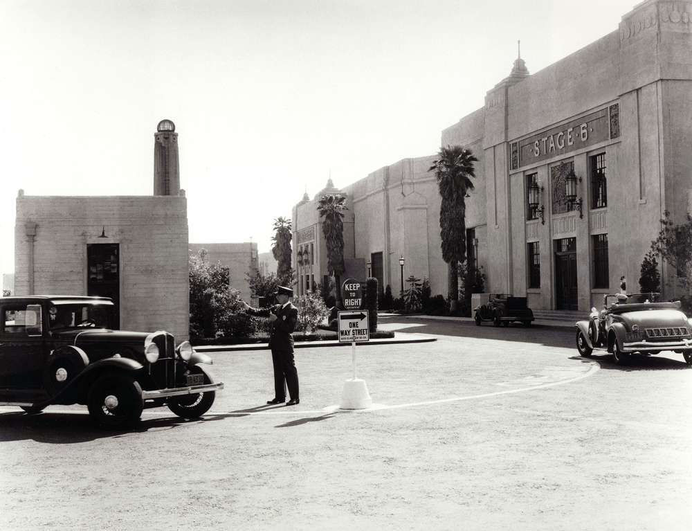 Fox studio backlot in the 1930s. Image via  Variety .