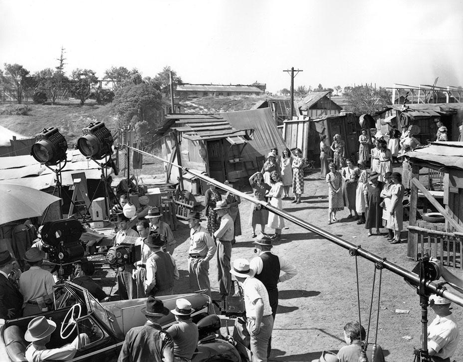 Filming  The Grapes of Wrath  in the 1940s. Image via  The Hollywood Reporter .