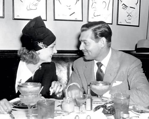 Carole Lombard and Clark Gable at the Derby.