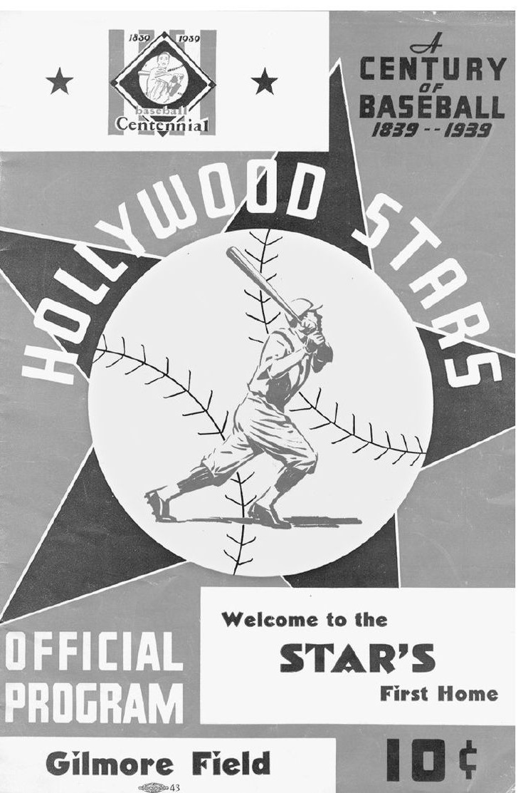 Program from Opening Day at Gilmore Field (1939). Photo via Richard Beverage Collection,  The Hollywood Stars