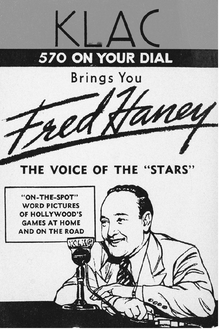 "Before taking over as manager, Fred Haney was a sports broadcaster and ""Voice of the Stars."" Photo via Richard Beverage Collection,  The Hollywood Stars ."