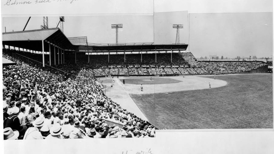 Panorama photo of Gilmore Field via USC Digital Library, California Historical Society Collection (June 6, 1938)