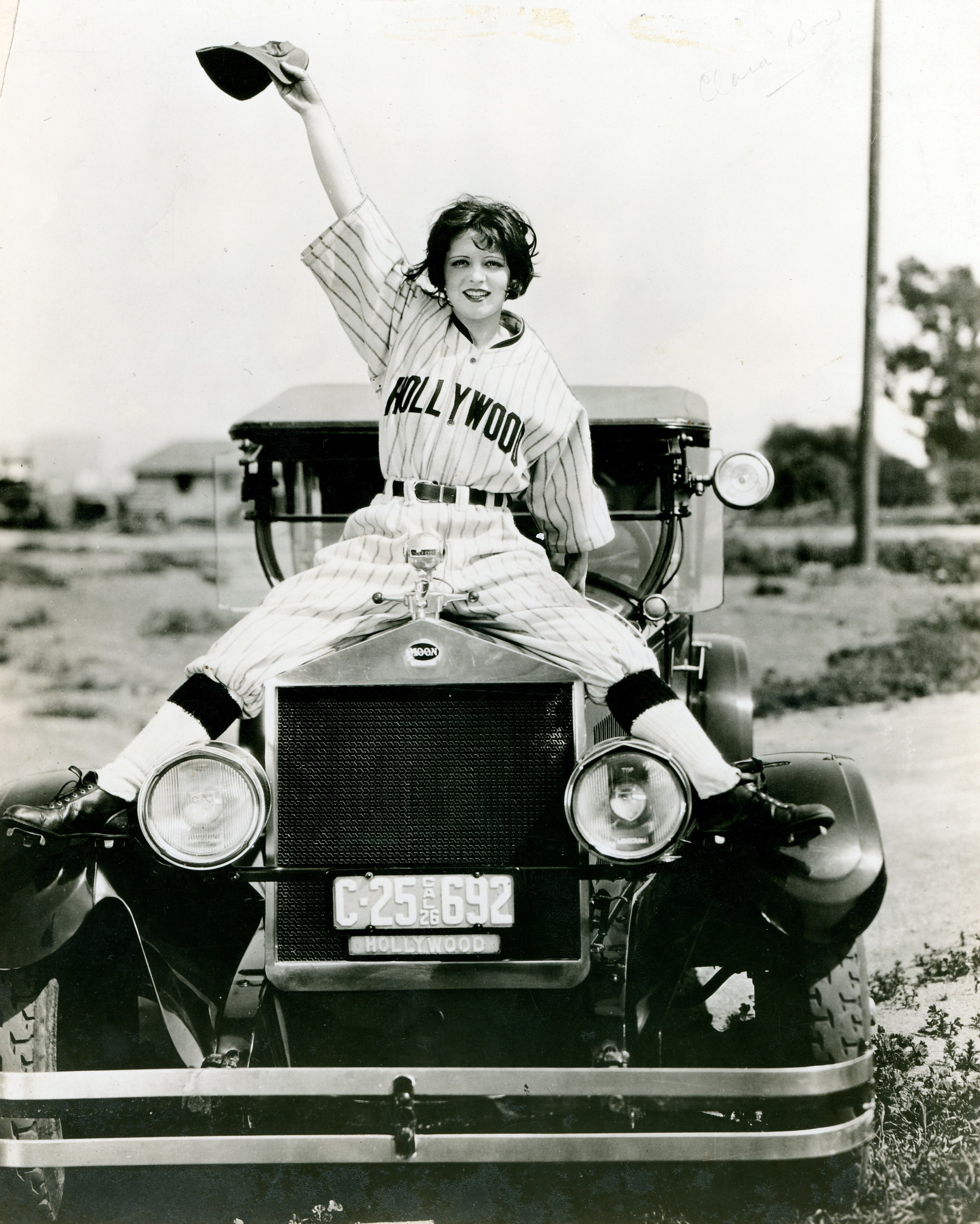 Clara Bow donning a Hollywood Stars jersey. Photo via Missouri Historical Society (1926).