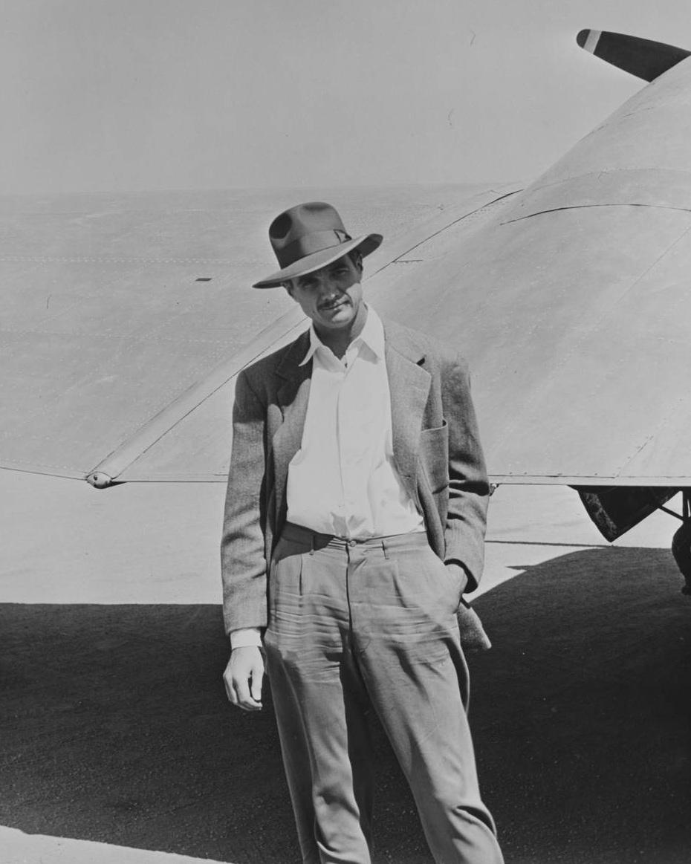 Howard Hughes in Los Angeles. Photo via UNLV Library (Aug. 6, 1947)