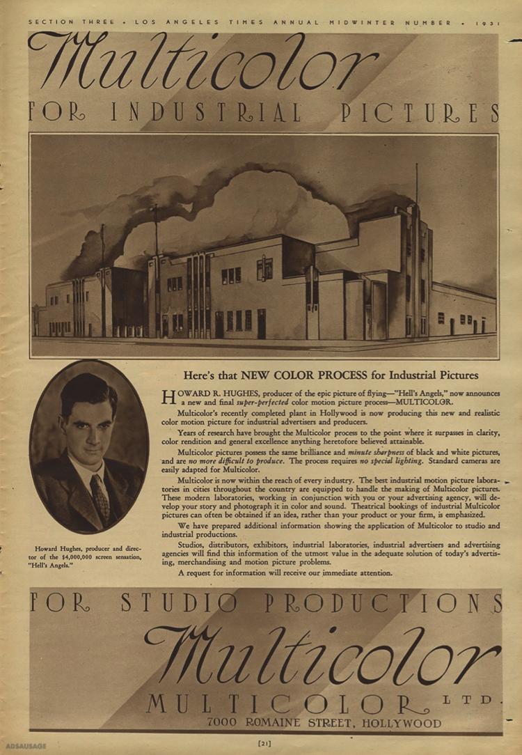 Multicolor Ad (c.1930s)