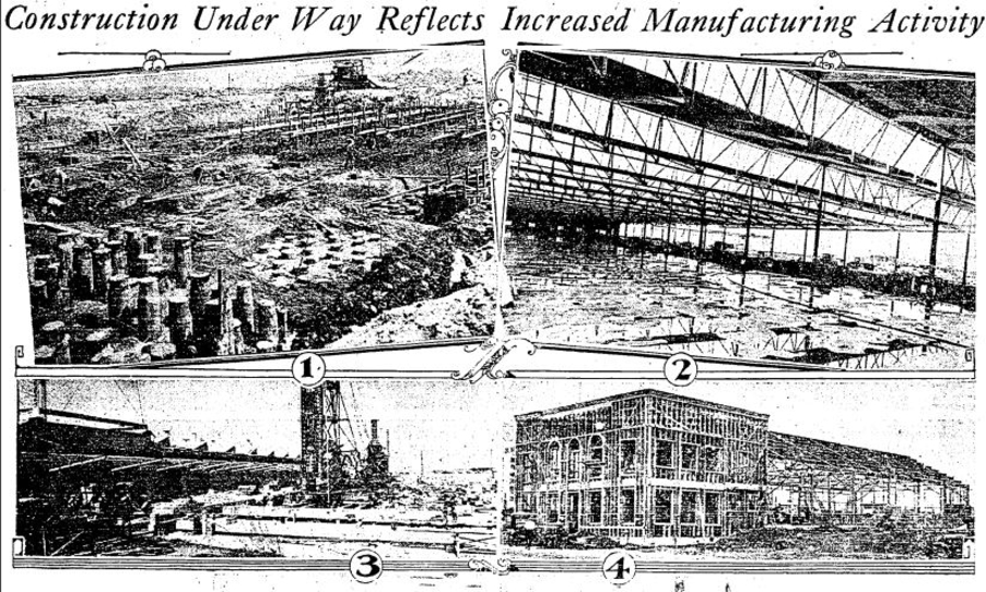 Construction of the 7000 Romaine building from the  LA Times  (Oct. 5, 1930).