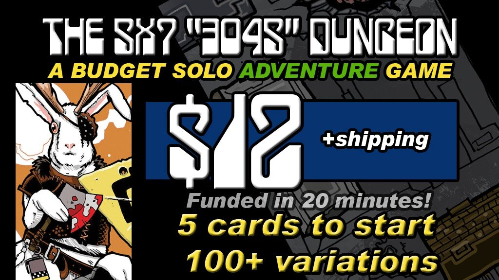 Dan's latest Kickstarter is the    3045 AN APOCALYPTIC FANTASY 5x7 DUNGEON CARD SET   , a solo card game in the apocalyptic fantasy genre! One card is a complete game, 5 cards to begin with, 13 cards in the complete set! Click   HERE   to get in on this 100% awesomeness!