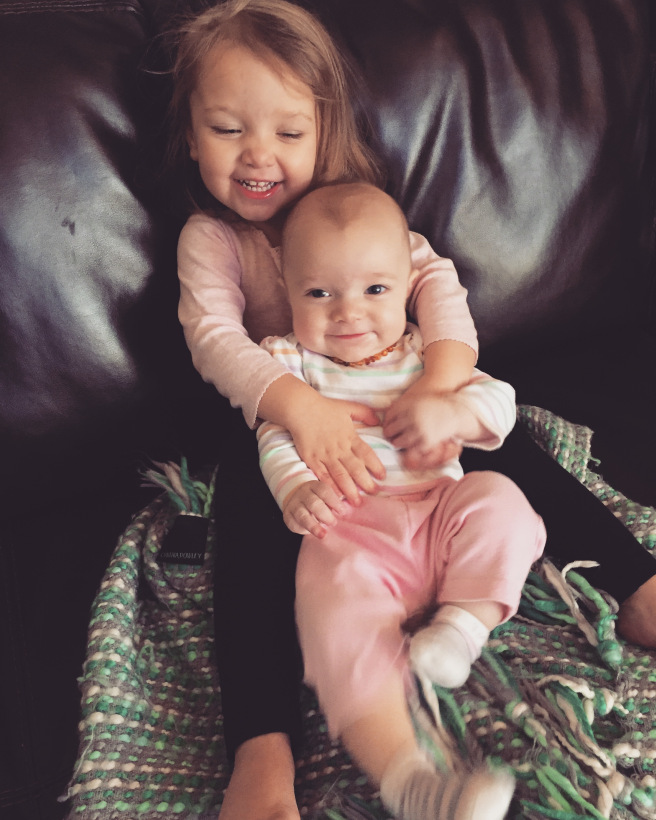 """I'm tickling Kate, mommy!"""