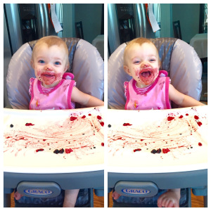 Picture because...who doesn't love a baby eating blueberries?!