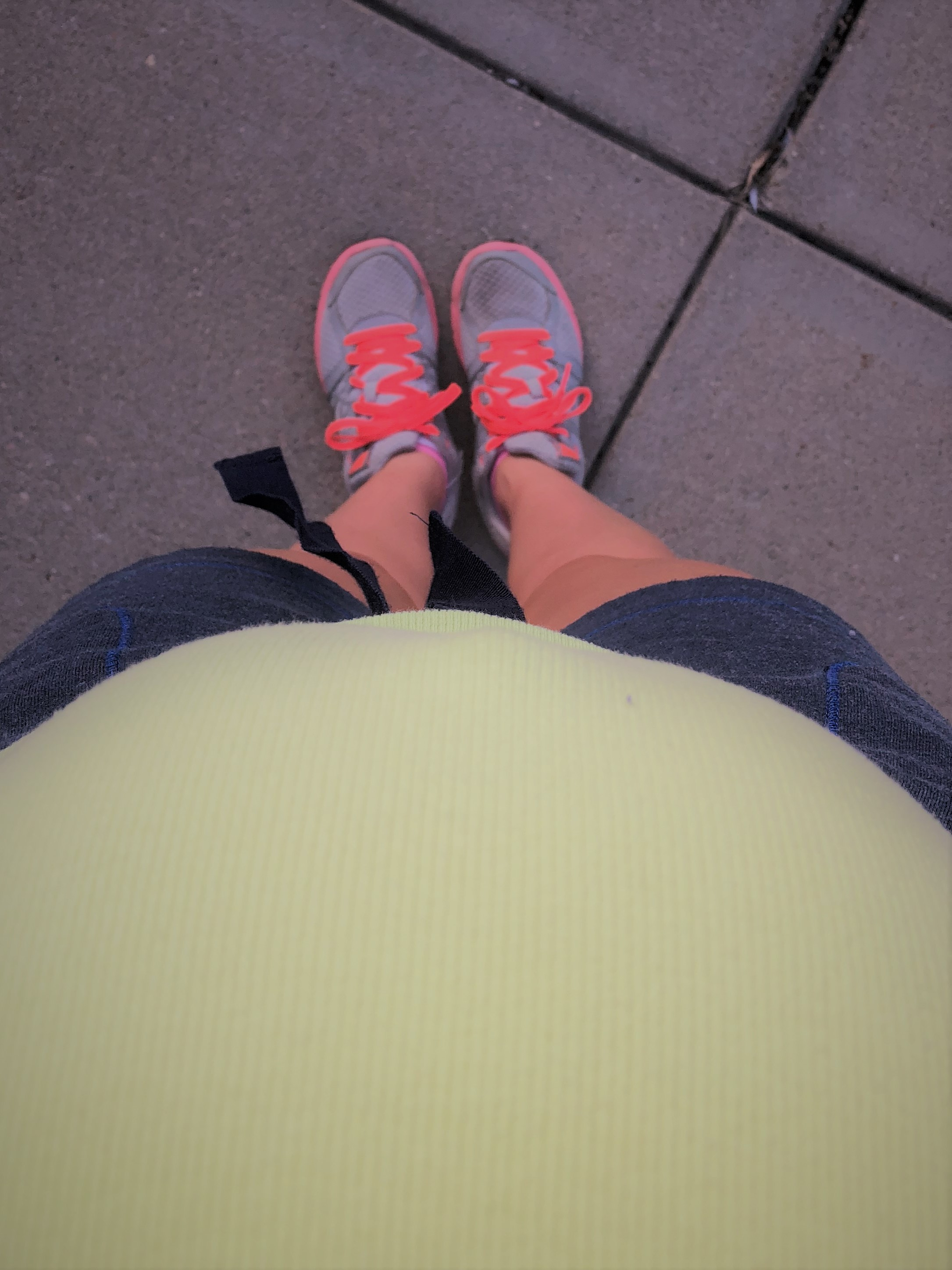 Me and my bump. Going for a walk.