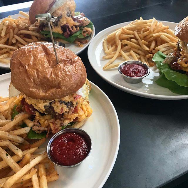 Anyone like their burgers as dirty as we do?!! Pimento cheese, bacon + a fried egg... mmmmm, yep.  #putaneggonit  #burger  #bestburger #burgerandfries #burgersandfriesforever #dirtyburger #baconburger #breakfastburger #breakfastburger #pratherranch #dogpatchsf #ourpatchsf #ourpatch #sfeats  #sfburgers #dinnerSf #acmebreadcompany #filthygood #Illtakethree