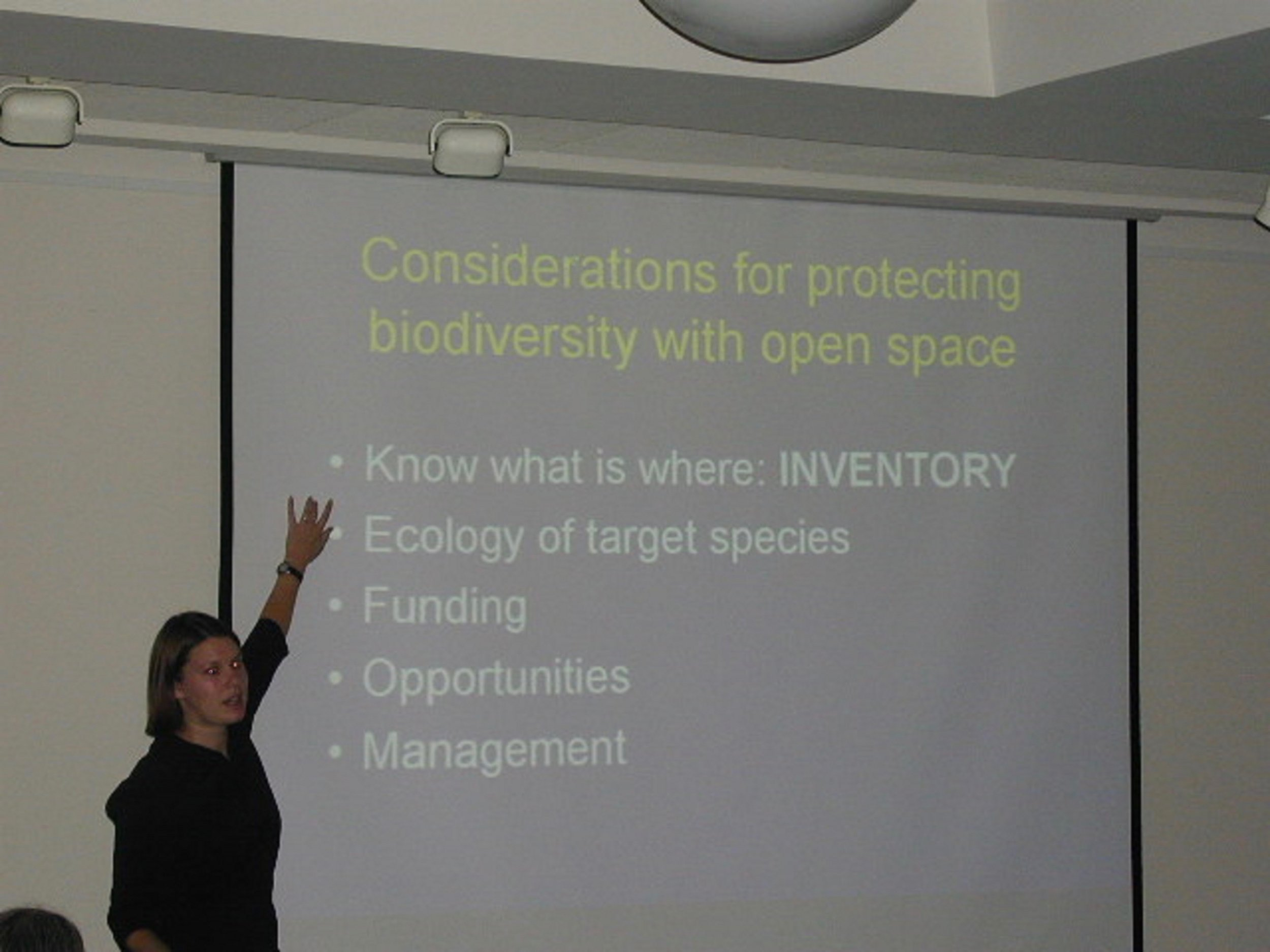 This is me early in my career. You can see I am possessed by the word biodiversity.