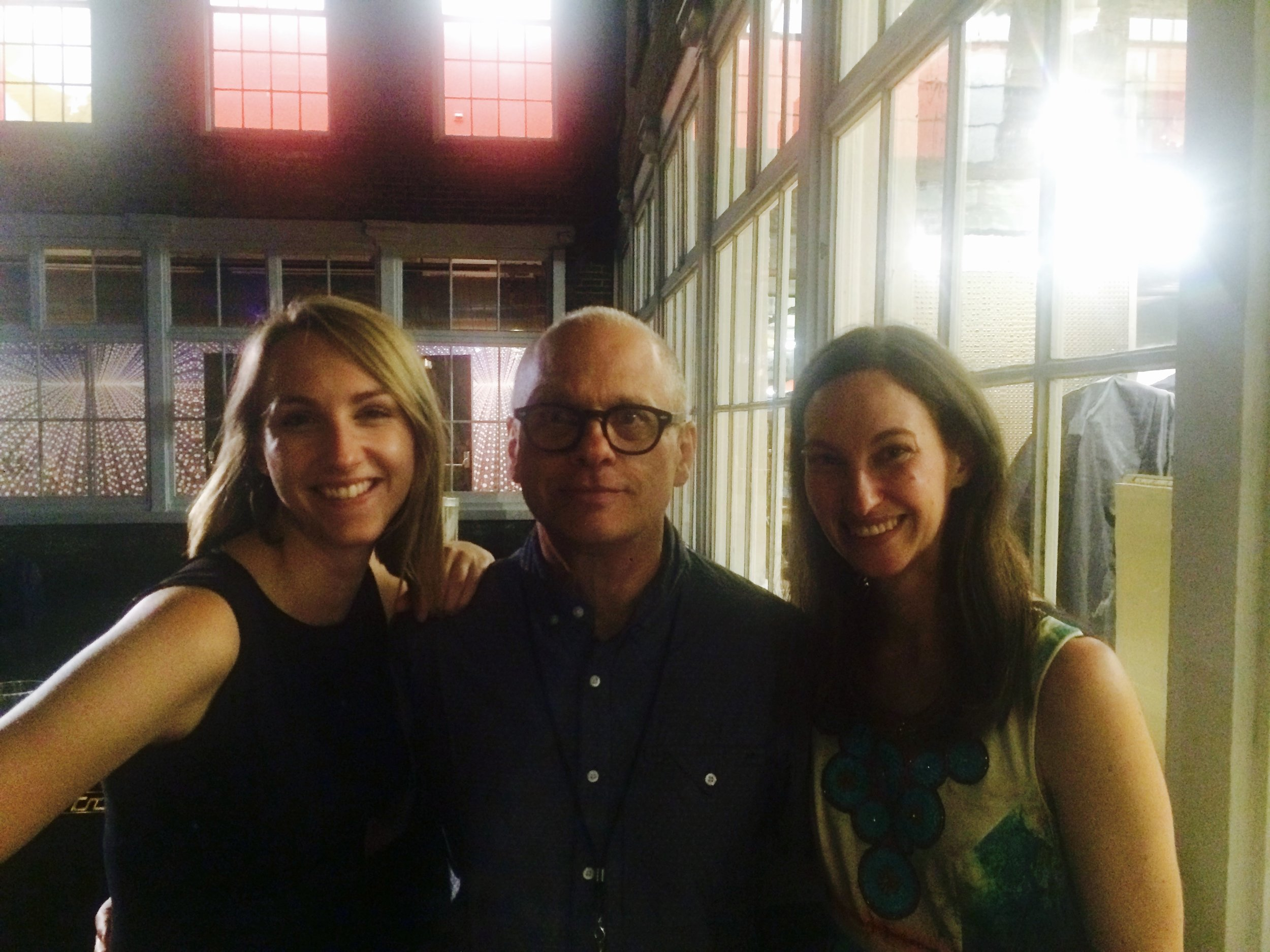 Tamara and Kaylie with David Lang, July 2015
