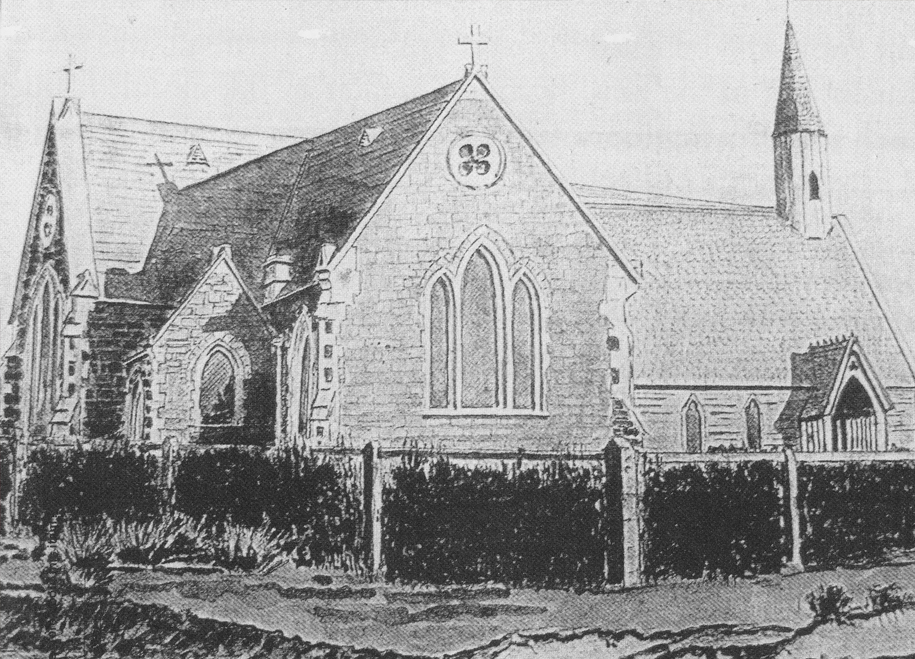 1860-70:Origins - The first St Mary's, a small wooden building, was dedicated in April 1861.  It was the first church in South Canterbury. A new stone extension, incorporating chancel, transept and a small vestry, was opened on Christmas Day 1869.