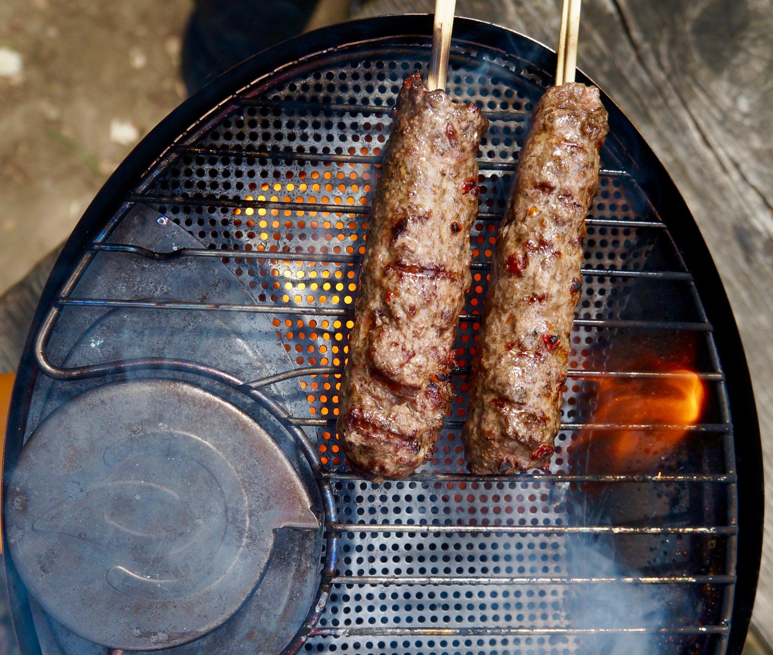 Fresh Beef Kofta on the Biolite Grill - Biolite Blog 2018