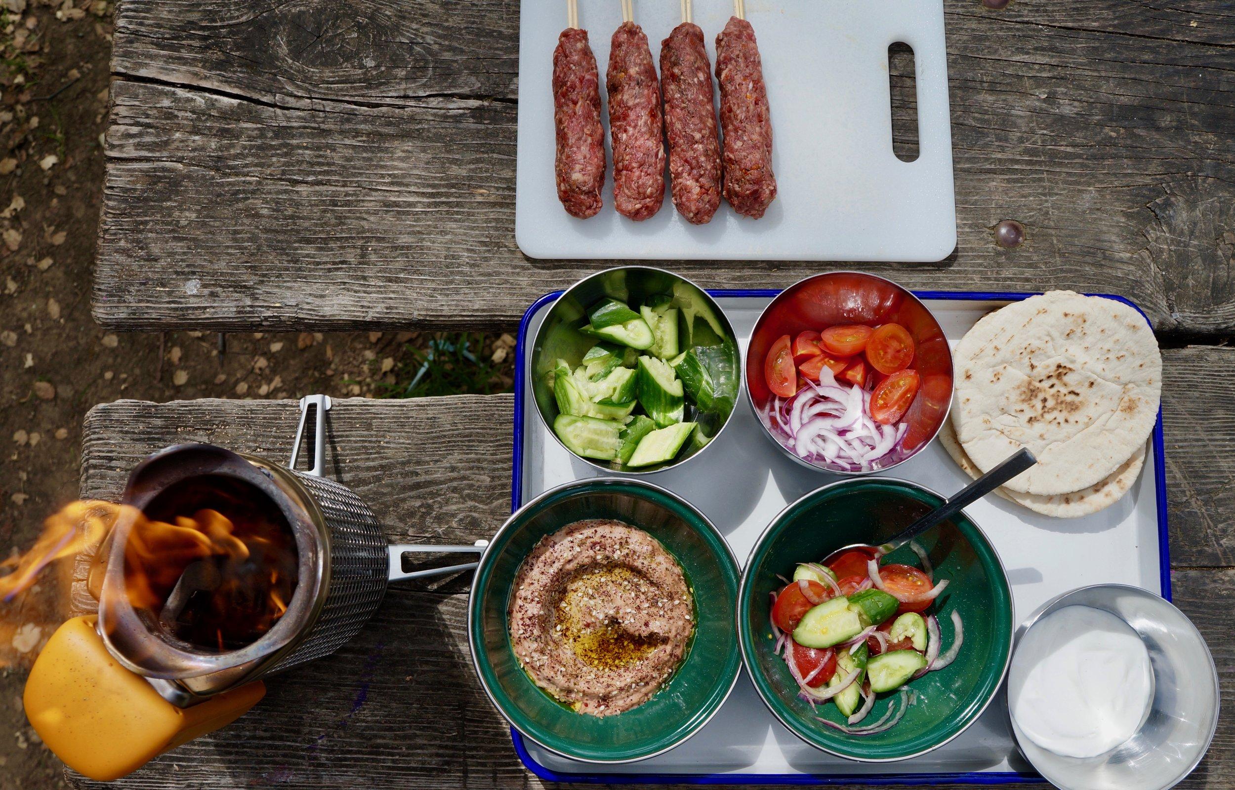 Camp Mezze Feast - BioLite Blog May 2018