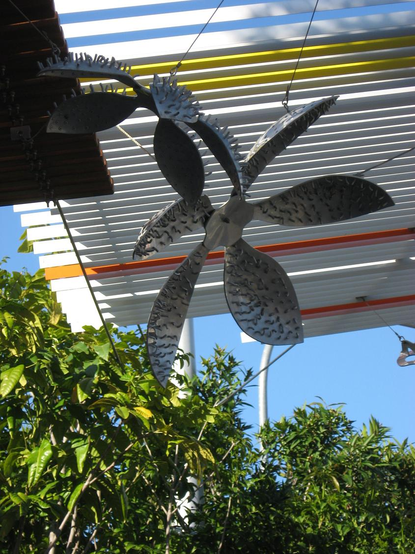 Sarah Rayner and Andrew McDonald. Melbourne Street, West End. 2004. Annealed aluminium and rivets.