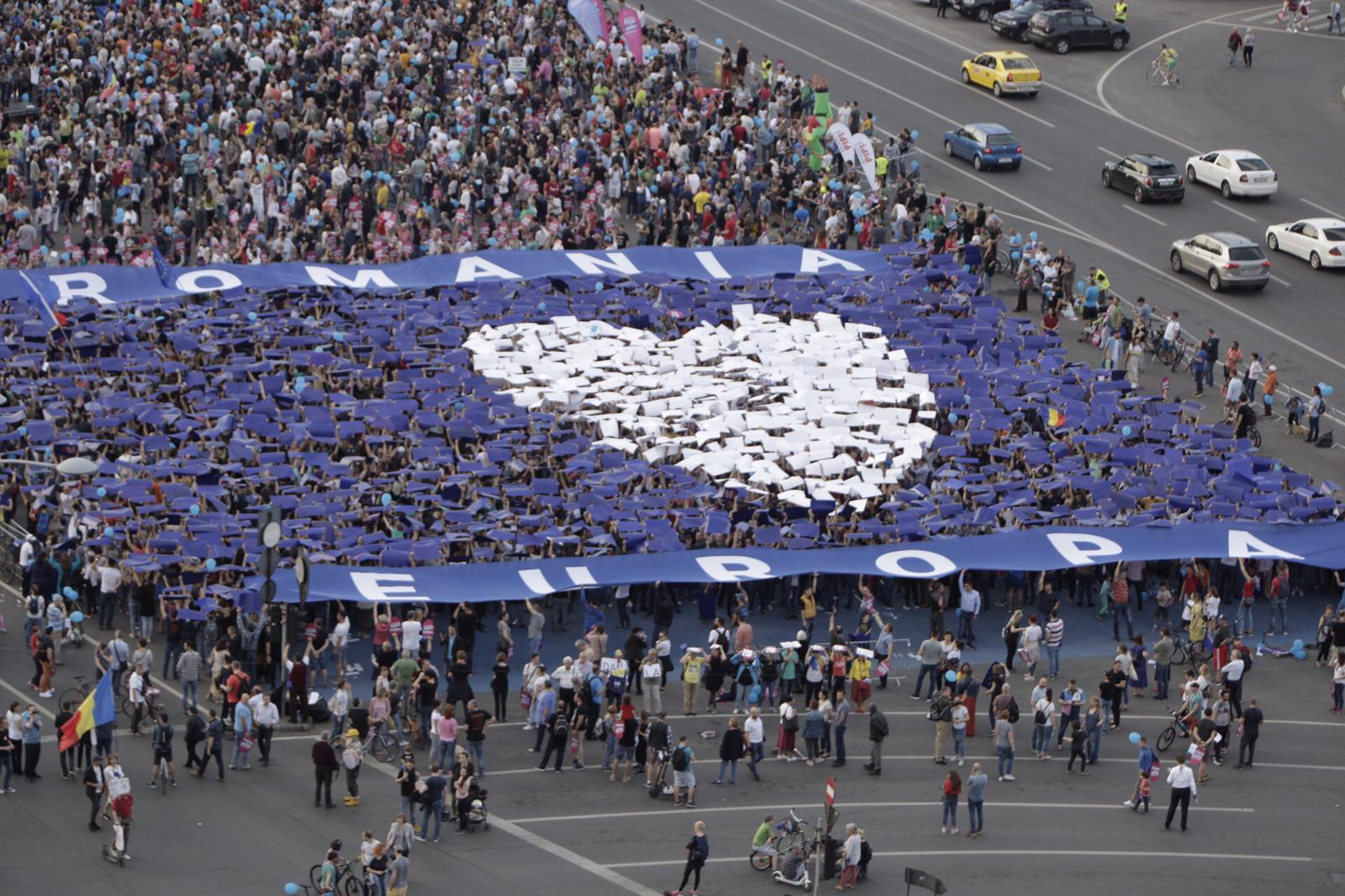 15,000 came together in Bucharest and 5000 Romanians gathered in other locations.