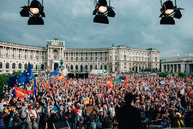 The party in Vienna went on for hours, where thousands came together across Austria.