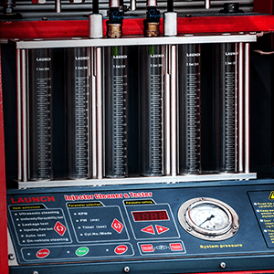 INJECTOR CLEANER AND TESTER - Accurately tests the performance of injectors and cleans the injectors in a correct and precise way.
