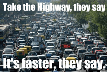 They call it the 405 because it takes 4 o' 5 hours to get anywhere. *ba dum tsss* Photo Source:   thenewswheel