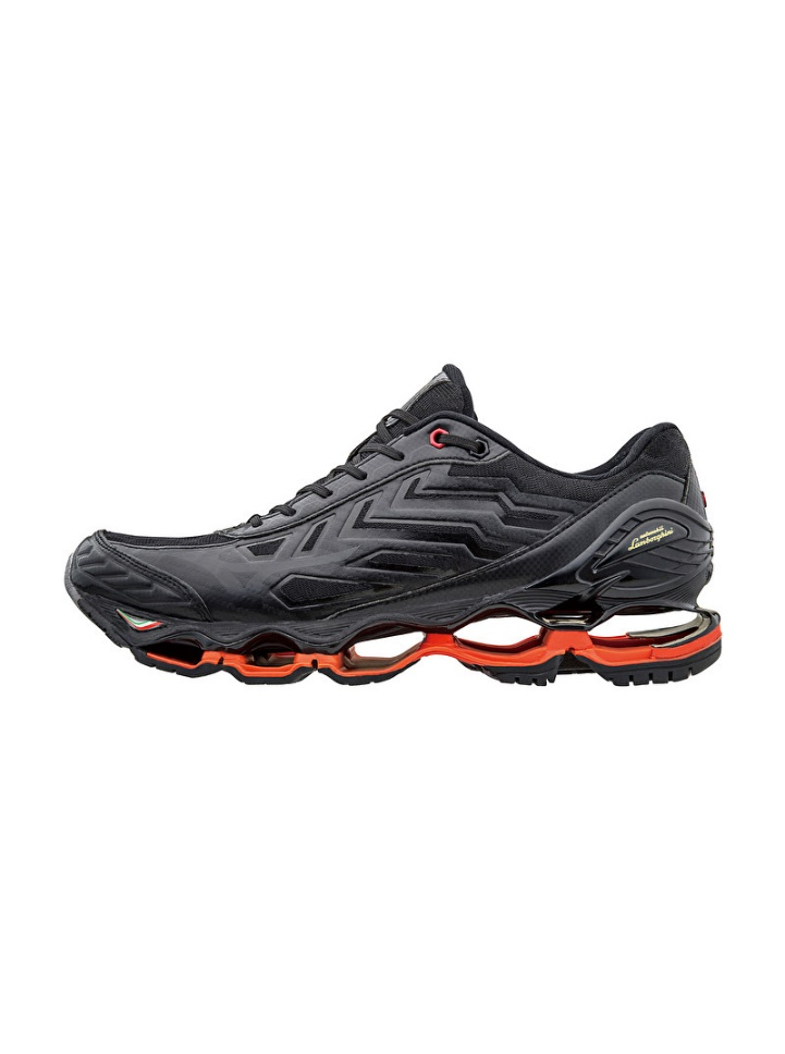 Surprise! They also have running shoes. It is called the Lamborghini Wave Tenjin Running Shoes by Mizuno.