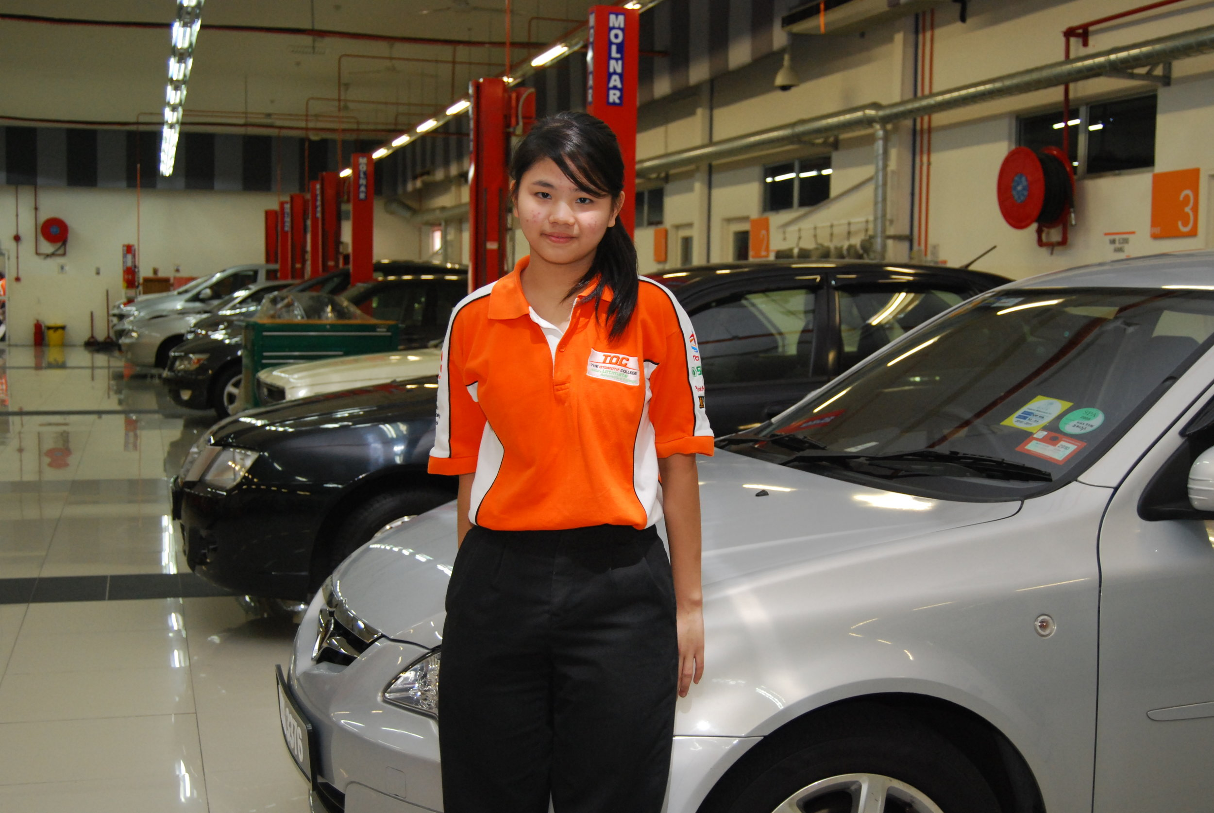 Photo: Carin Chiam believes that the automotive industry can be a good career choice for today's women who are competitive and up for challenges.