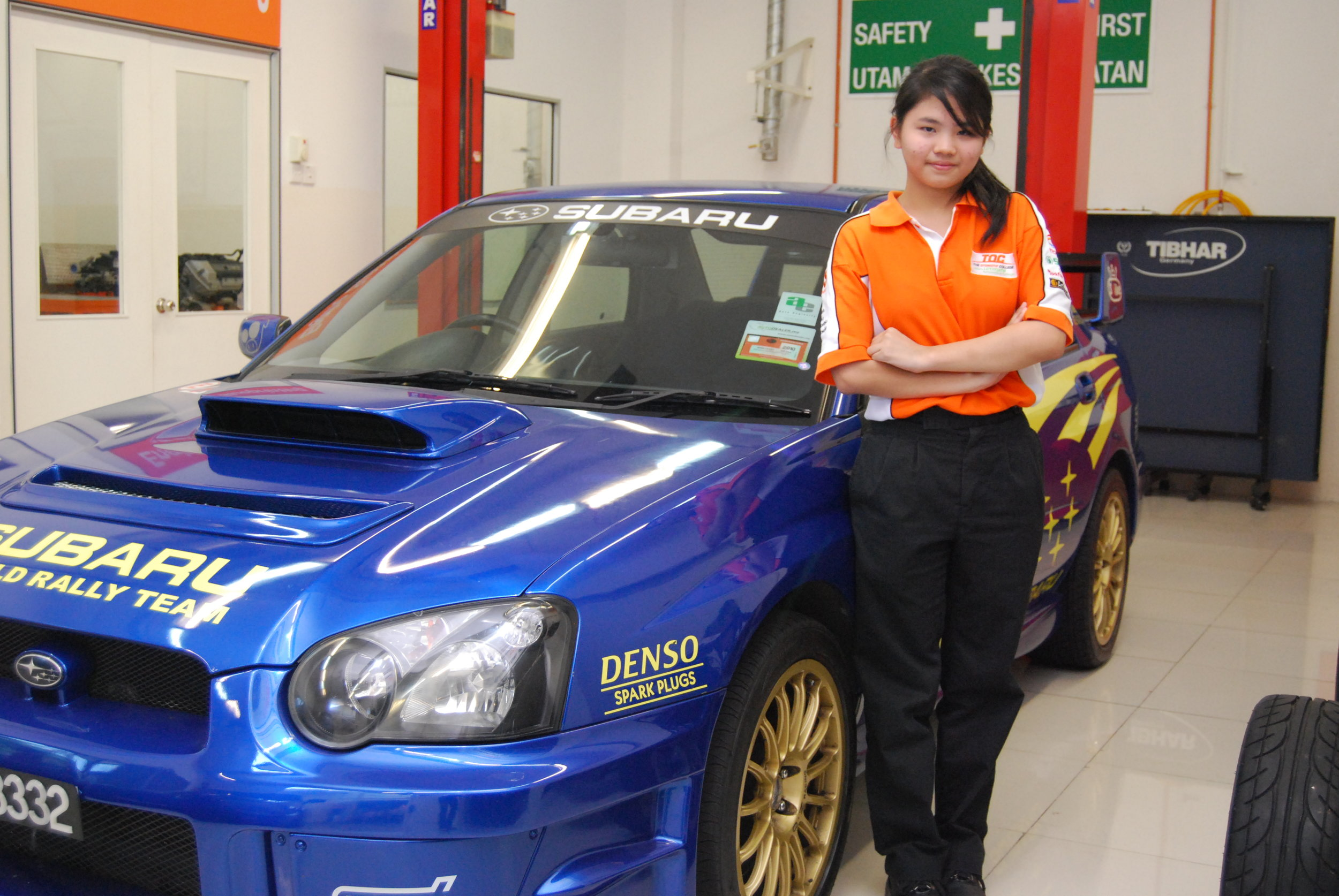 Photo: Who says girls cannot have a place in the automotive industry Chiam, 18, steps up to prove them wrong.