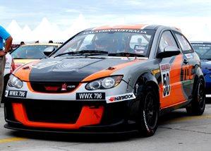 TOC Motorsports Team with its prized 149bhp Proton Satria Neo R3  Source:  Star Carsifu
