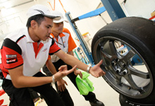Answering a question about the car tires.  Image source:  Honda Malaysia
