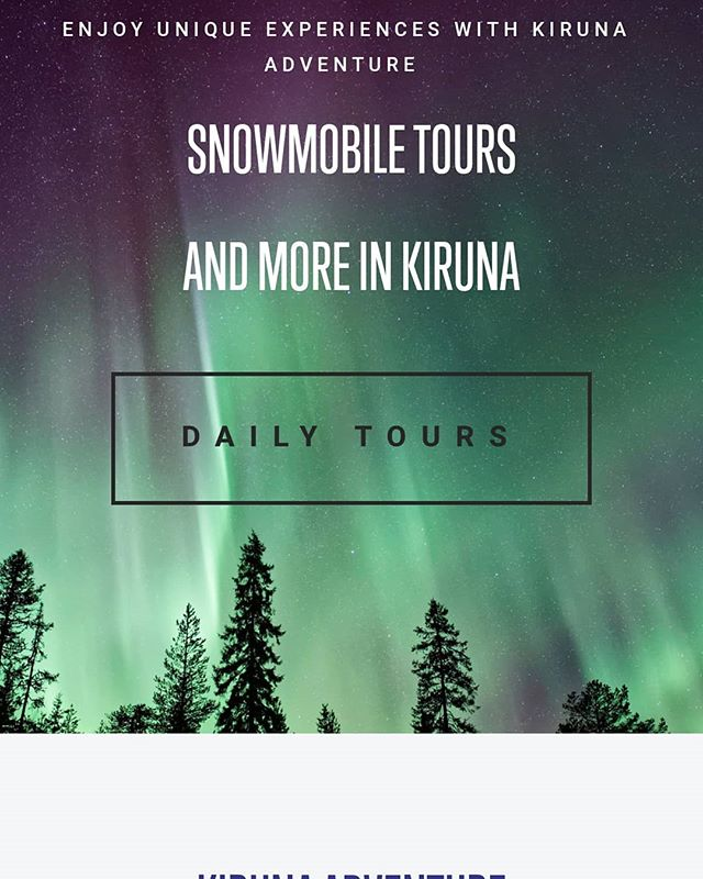 Now we opened the bookings for 2019/20. Your welcome look and book :) If you have  questions just let us know! / Paula & Zack . . #winteriscoming #kirunaadventure #kiruna #sweden #snowmobile #dogsledding #auroraborealis