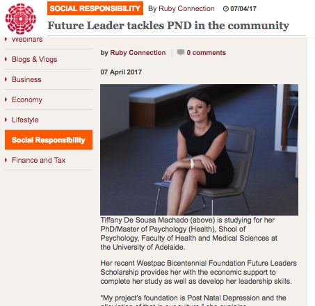 RUBY CONNECTION - Future Leader tackles PND in the community'