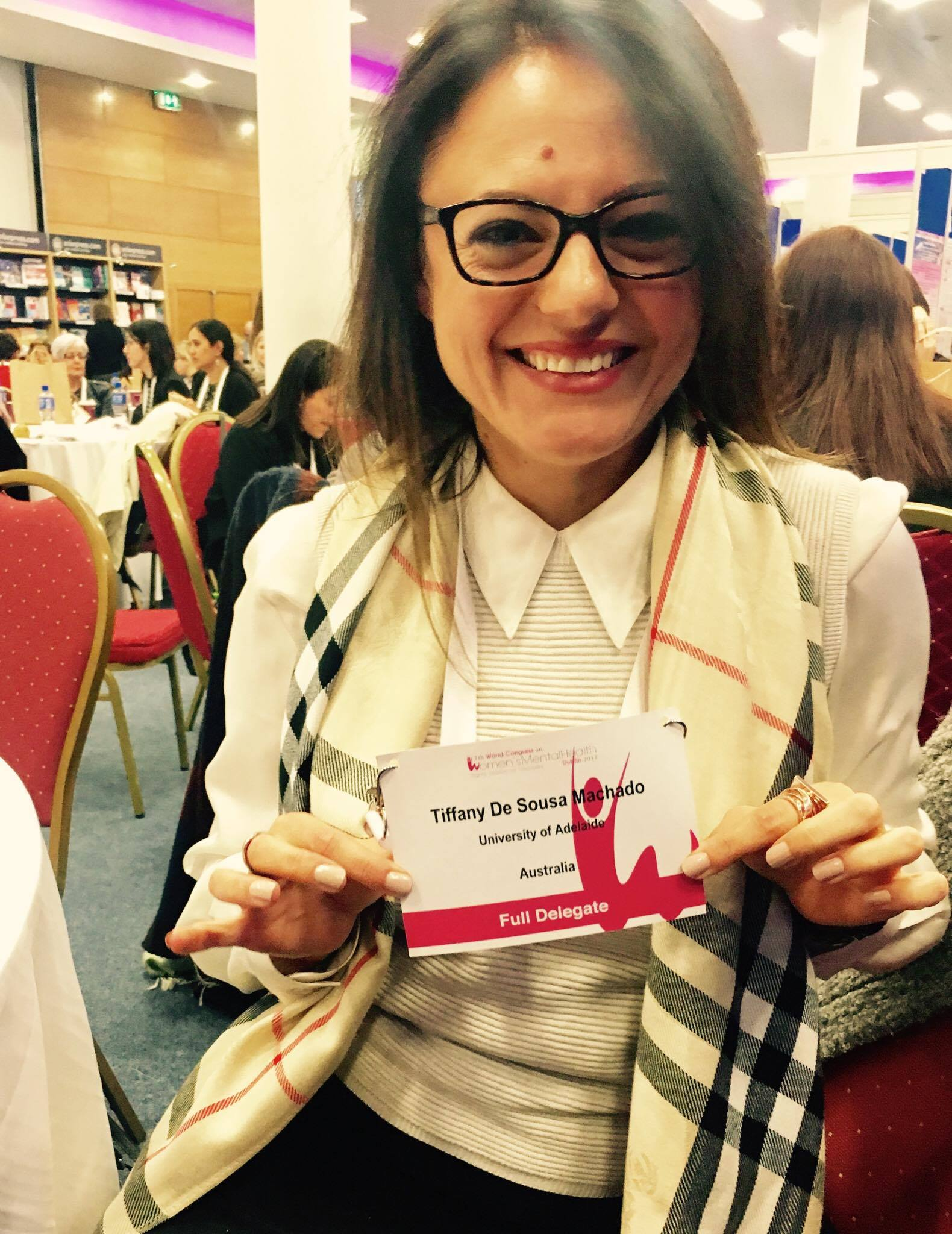 At the 7th world congress on women's mental health, Dublin, Ireland.