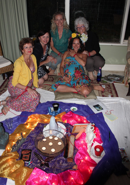 My beautiful sacred circle hosted by Diane McCann – so blessed.