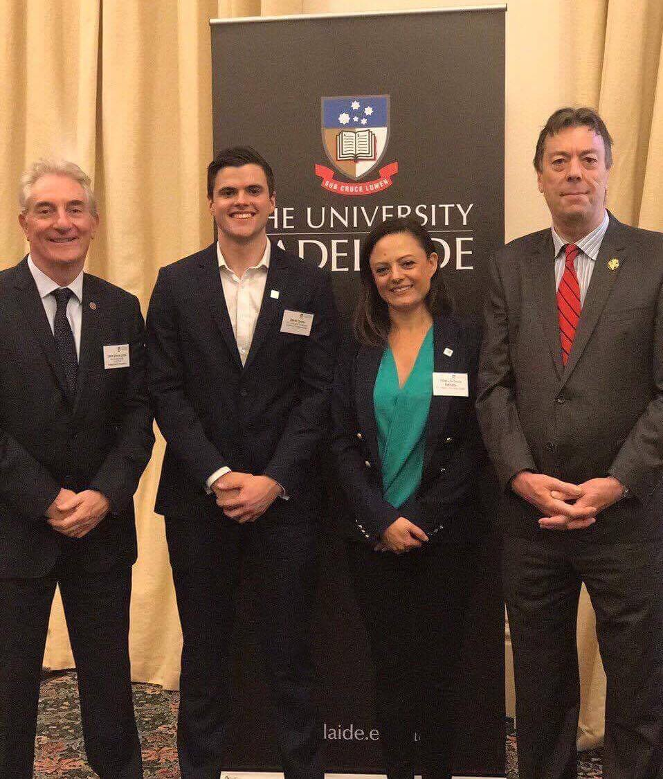 Head of Westpac SA and the University of Adelaide's Vice Chancellor