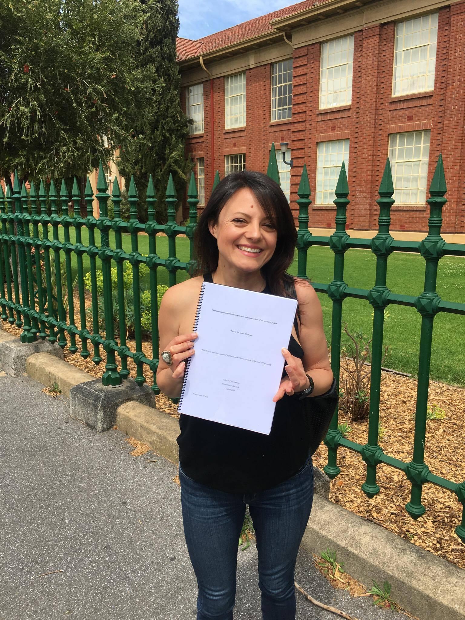 Handing up my Hons thesis - 'Men's perceptions and understandings of postnatal depression'