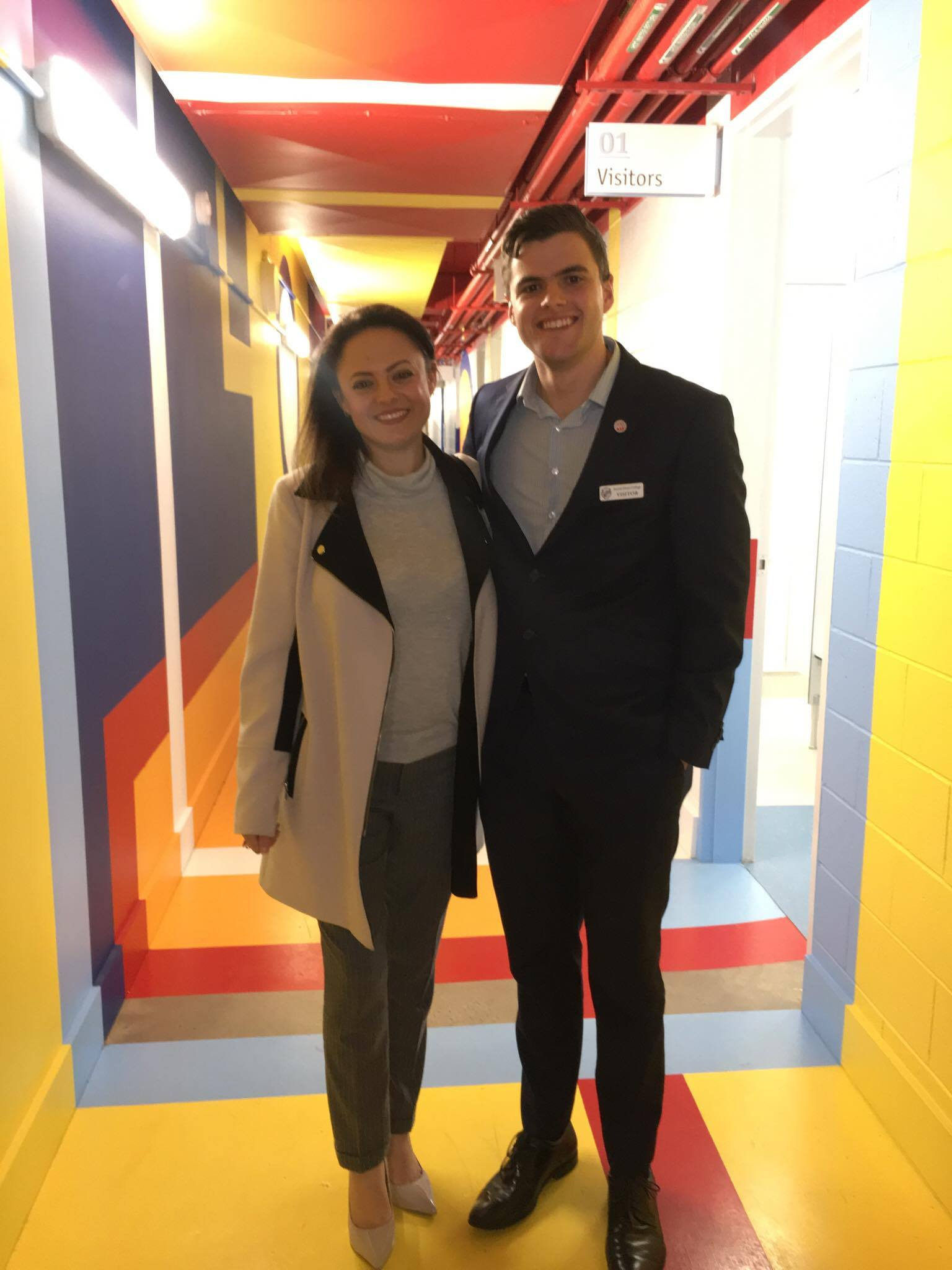 Both SA Westpac future leaders graduated from Sacred Heart College (20 years apart...) What are the odds! Back there to address the Year 12s and tour the new facilities