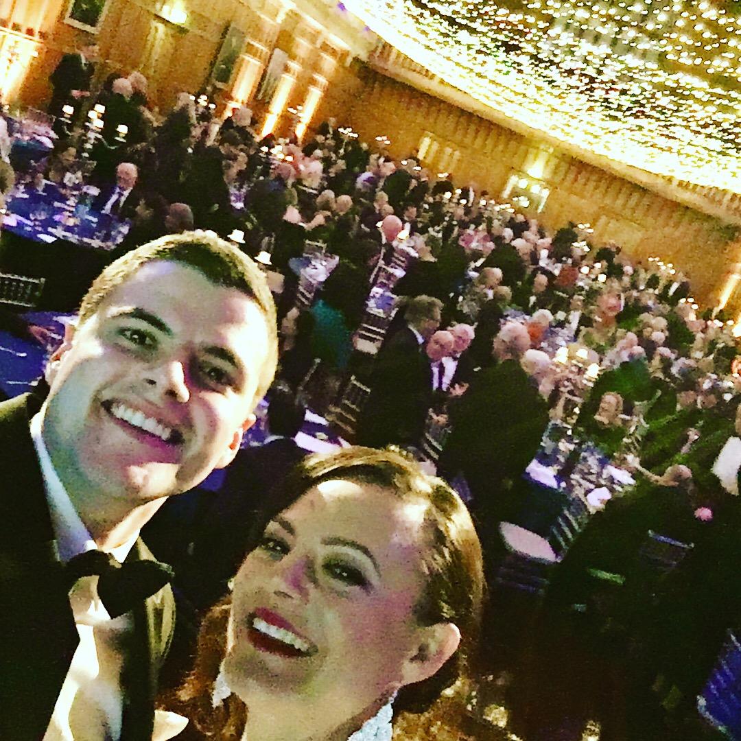 we couldnt resist a selfie overlooking the crowd