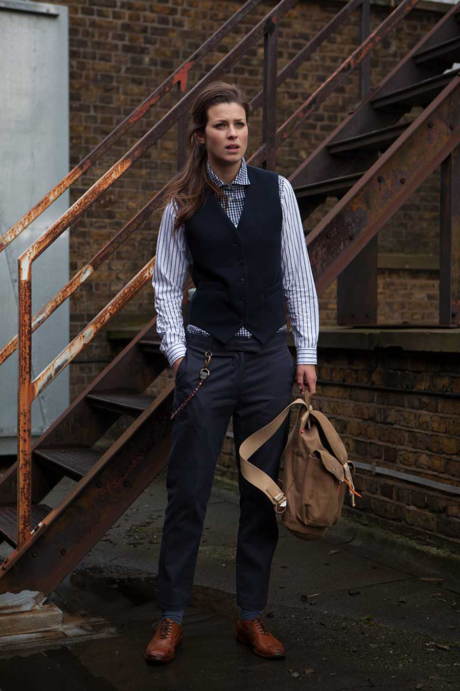 pique waistcoat, fishtail chinos, stripe & check shirt.jpg