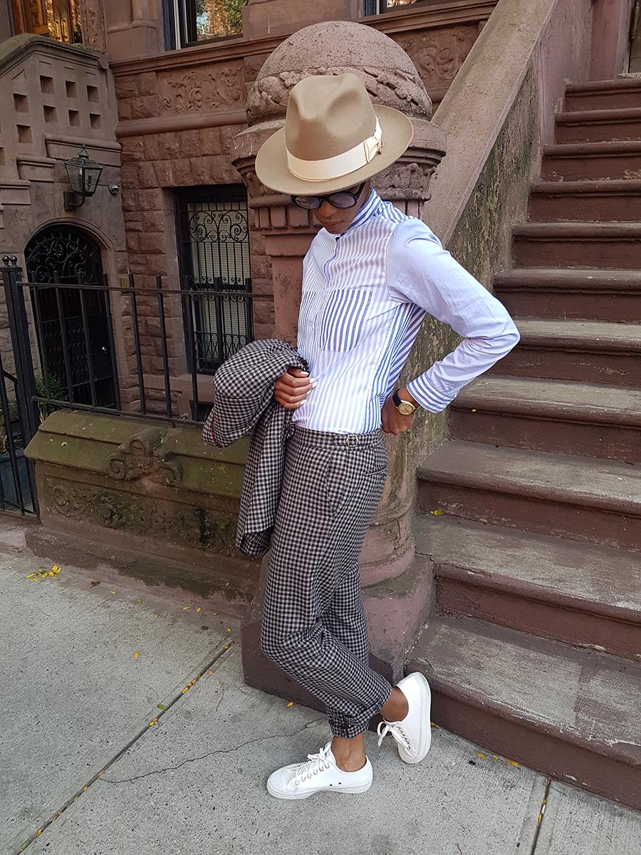 mix stripe shirt, autumn check trousers.jpg