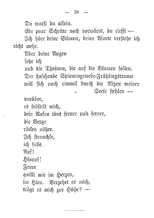 A page from the original 1893 edition of  Gedichte in Prosa  ( Prose Poems )