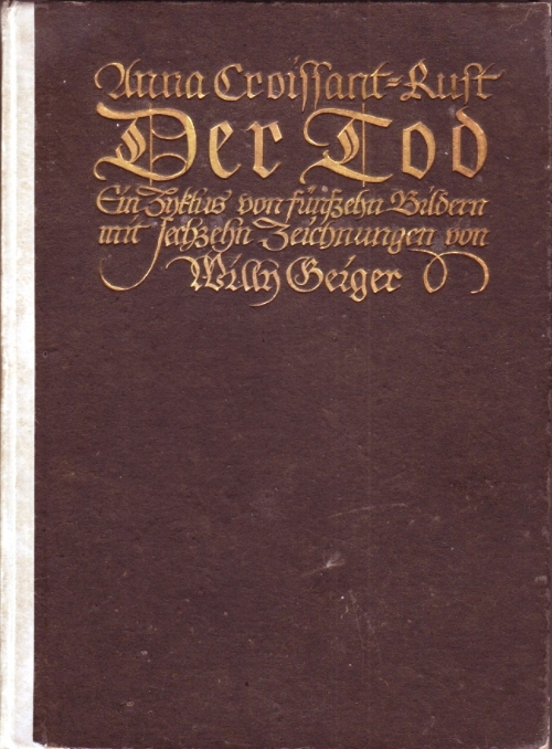 The cover of  Der Tod  ( Death ), 1914