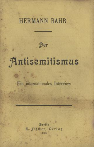 Der Antisemitismus
