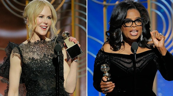 Nicole Kidman and Oprah Winfrey delivered impassioned speeches in support of Time's Up at the 2018 Golden Globes