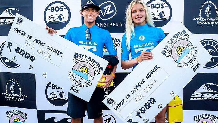This photo of 2 junior champions receiving 50% different prize cheques for surfing the same ocean, on the same boards, with the same amount of difficulty, caused a social media outcry last week